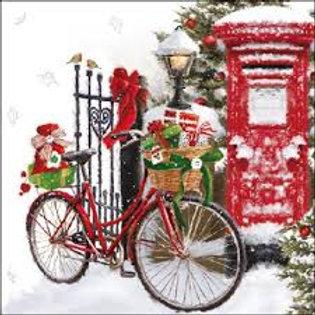 Bike In The Snow - Decoupage Napkin