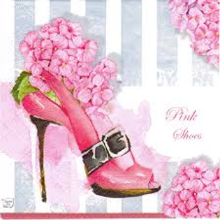 Pink Shoes - Decoupage Napkin