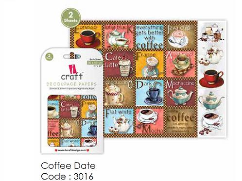 Coffee Dates ICraft Decoupage Paper