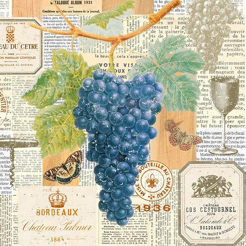 Vigne - Decoupage Napkin