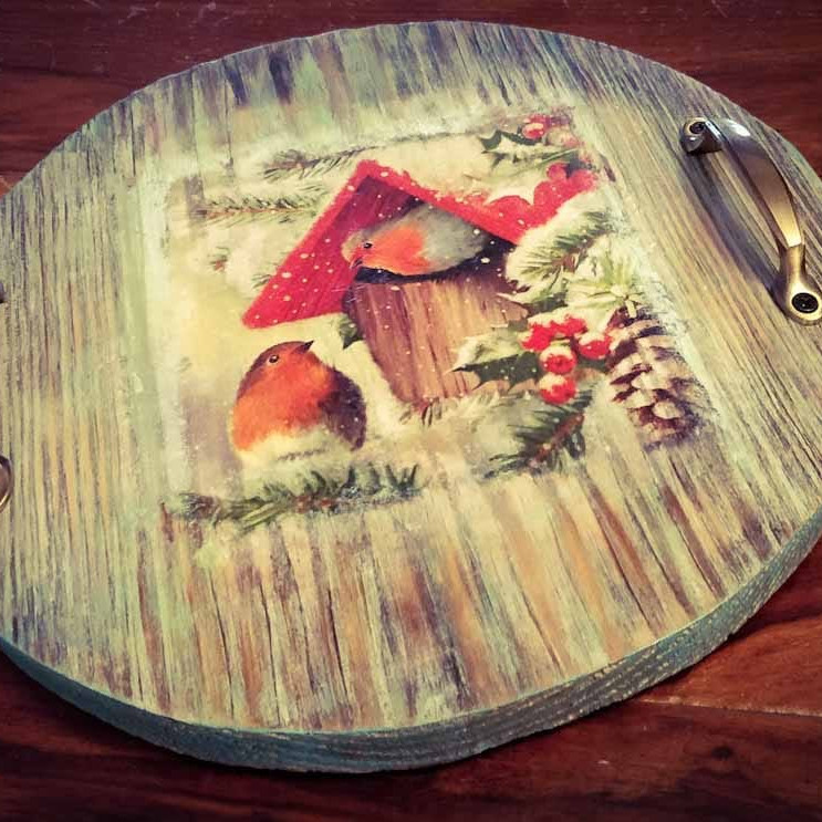 Decoupage With WoodBurning Technique