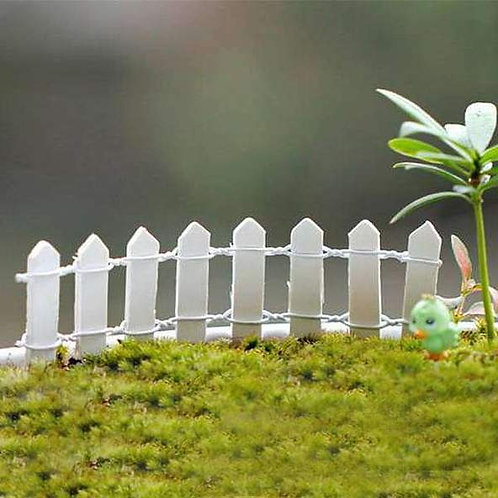 White Wooden Fence - Miniature