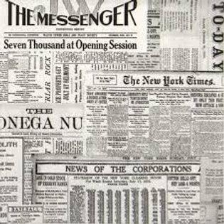 Newspaper Print- Decoupage Napkin