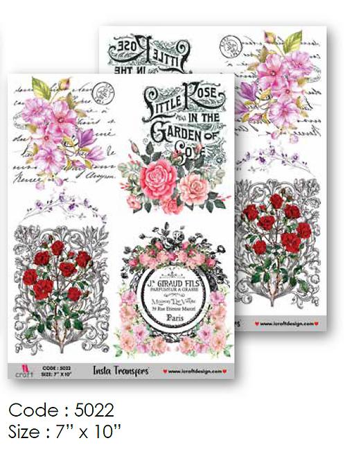 Floral Design- ICraft Transfer Paper