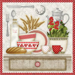 In The Kitchen - Decoupage Napkin