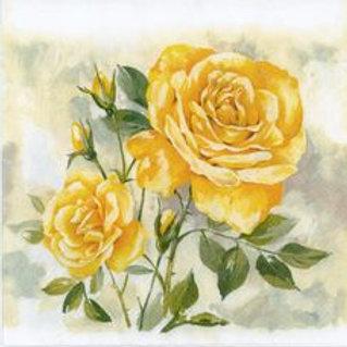Yellow Rose - Decoupage Napkin
