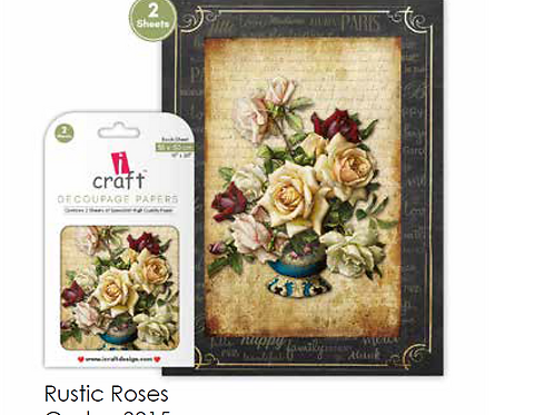 Rustic Roses ICraft Decoupage Paper