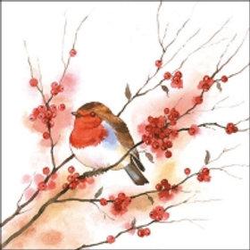 Birdy Robin - Decoupage Napkin
