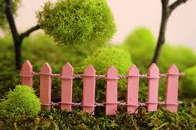 Pink Wooden Fence - Miniature