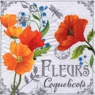Fleurs De Coquelicots - Decoupage Napkin