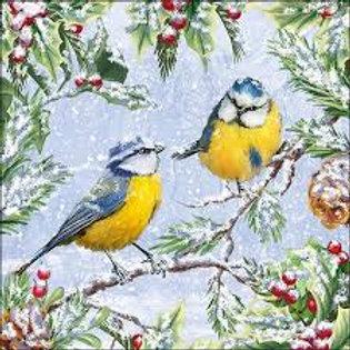 Chirping Birds - Decoupage Napkin