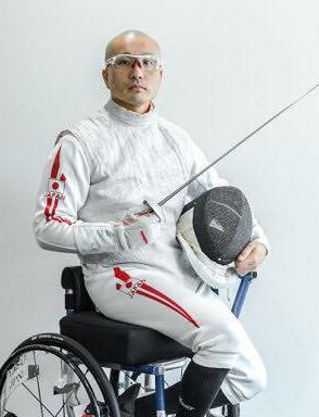 車椅子フェンシング 安直樹選手