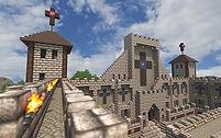 A church building in Minecraft