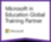 Microsoft in Education Training Badge.pn