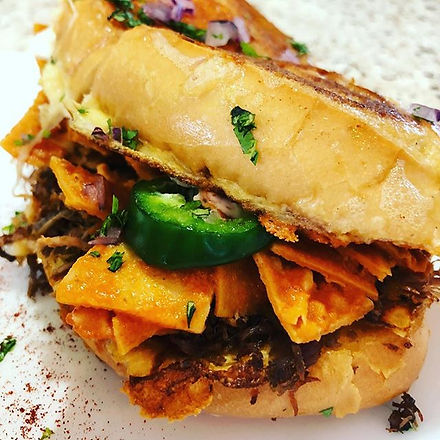 Chilaquiles and Machaca Torta only the b