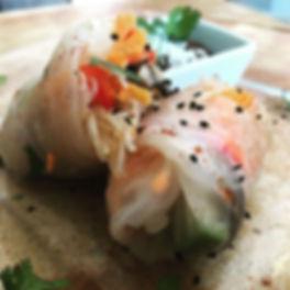 Portobello rice wraps with rice noodles,