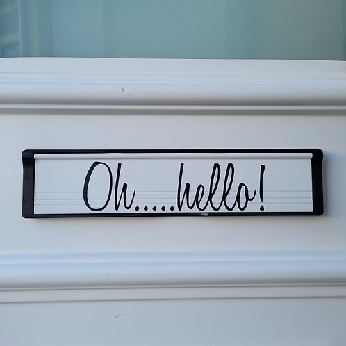 Oh....hello Letterbox Decal