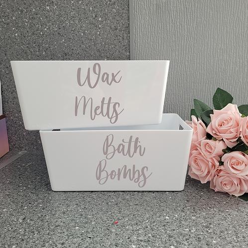 Personalised Wax Melts Storage - White