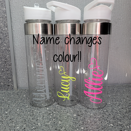 Colour Change Personalised Water Bottle