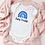 Thumbnail: Personalised Blue Rainbow Baby Grow