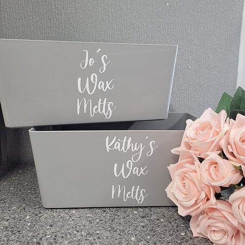 Personalised Bath Bomb Storage Box -Grey