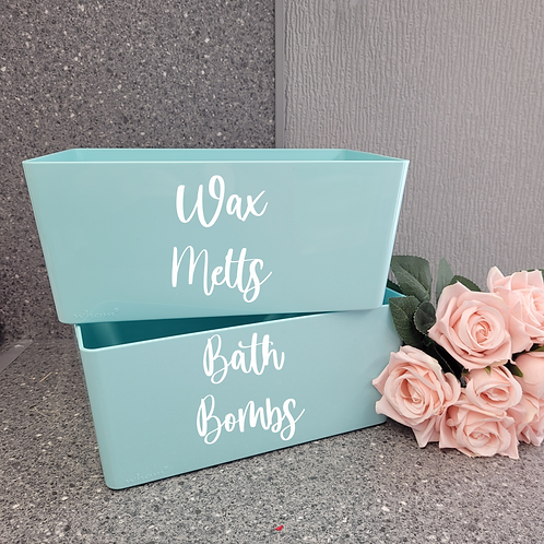 Personalised Bath Bomb Storage Box - Duck Egg