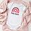 Thumbnail: Personalised Pink Rainbow Baby Grow