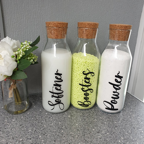 Laundry Storage Glass Bottles