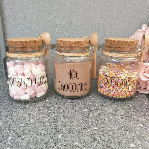 Cork Top Storage Jar With Spoon