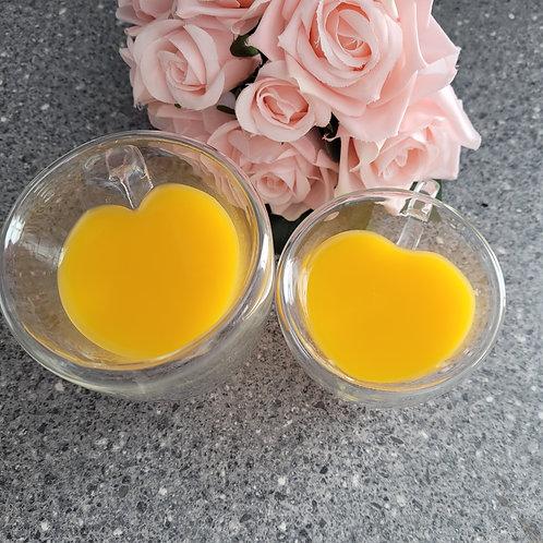 Glass Heart Shape Tea Cup