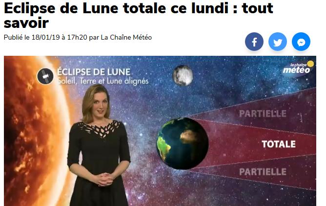 vidéo web Eclipse de Lune
