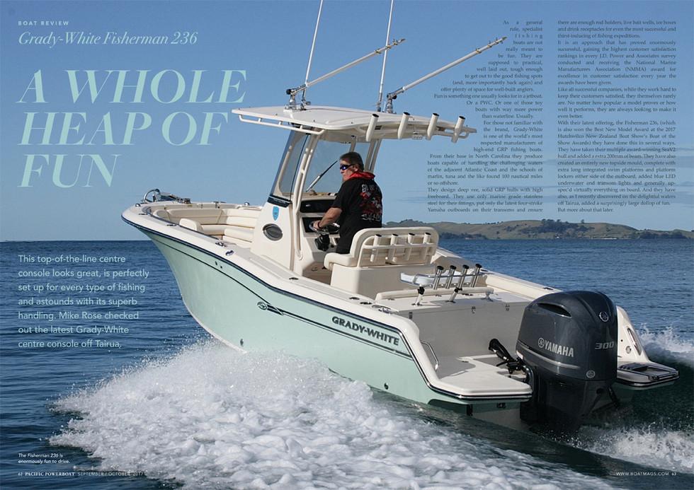 Fisherman 236 BOAT REVIEW | Grady-White Boats New Zealand