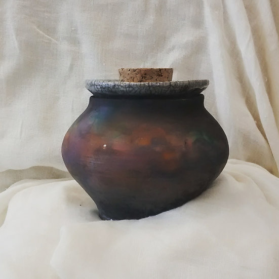 Rainbow Copper (lidded vessel)