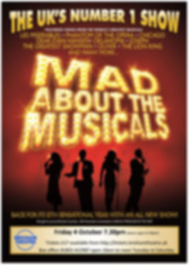 Mad about musicals poster mock up small.