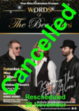 Words of The Bee Gees poster cancelled.j