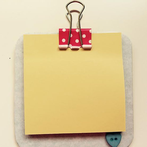 Mini Memo Clip Board Polka Dots