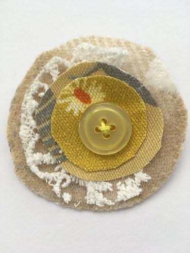 Fabric Brooch in Summer