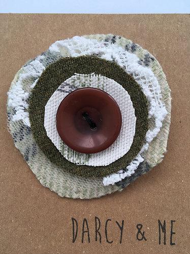 Fabric Brooch in Fern