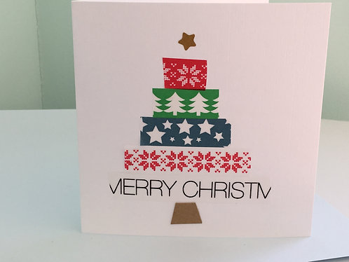 Washi Tape Christmas Tree Card