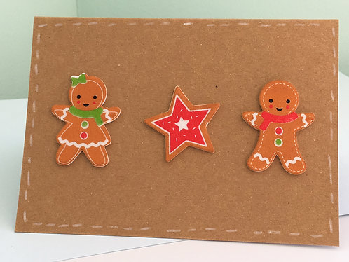 Christmas Ginger Bread Men Card