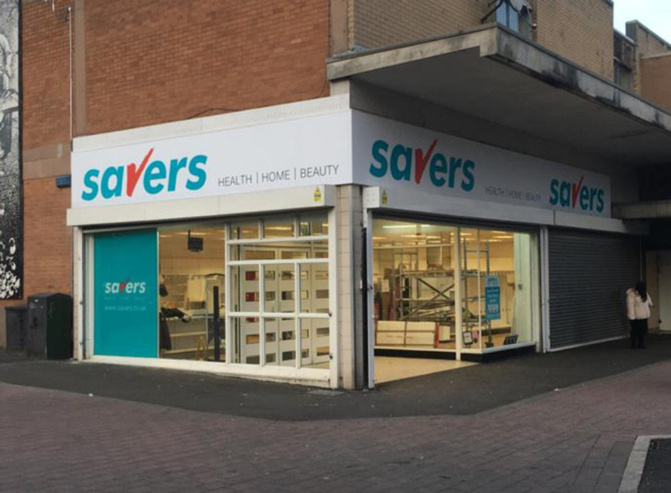 New store branding complete with wrap round corner