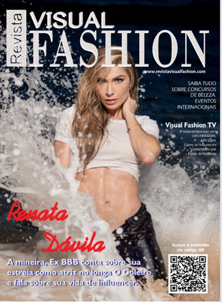 Renata Davila, e a capa da Revista Visual Fashion