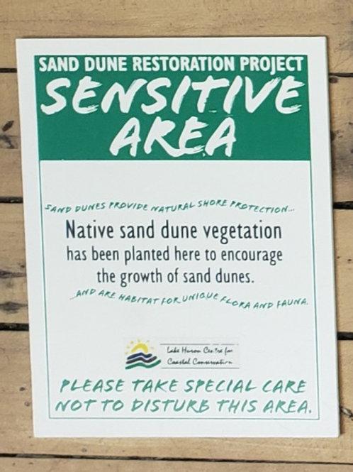 "Sand Dune Sign - Corrugated Plastic, 8.5x11"""
