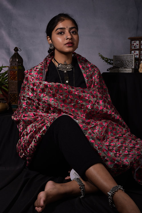 Traditional Check Dupatta