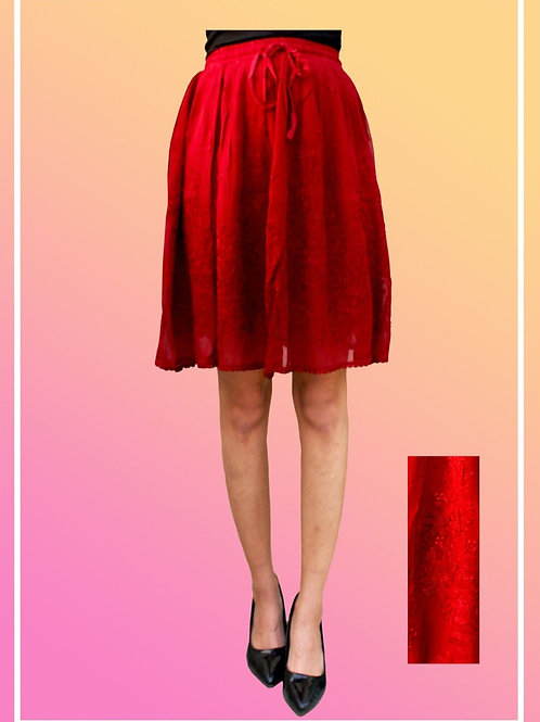 Short Viscose Skirt