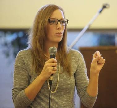 Laura giving a presentation