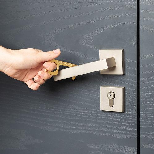 #workHardstayHumble - No Touch Door Opener - Brass - Engraved