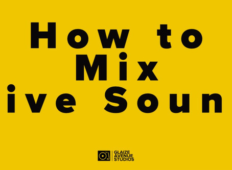 How to Mix Live Sound