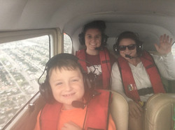 Family in a helicopter