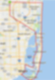 Miami Skyline Air Tour Route